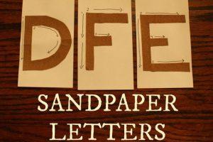 Sudbury Montessori Sandpaper Letters